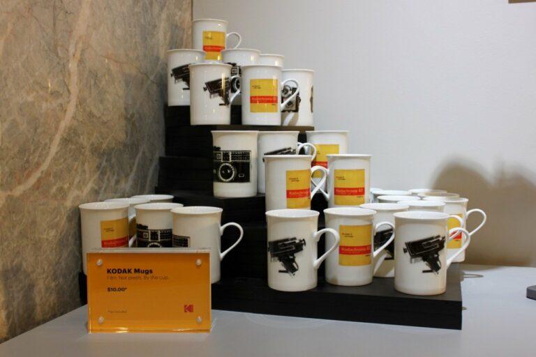 Kodak Mugs in the retail shop