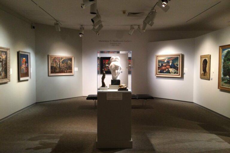 Art exhibit inside the Memorial Art Gallery