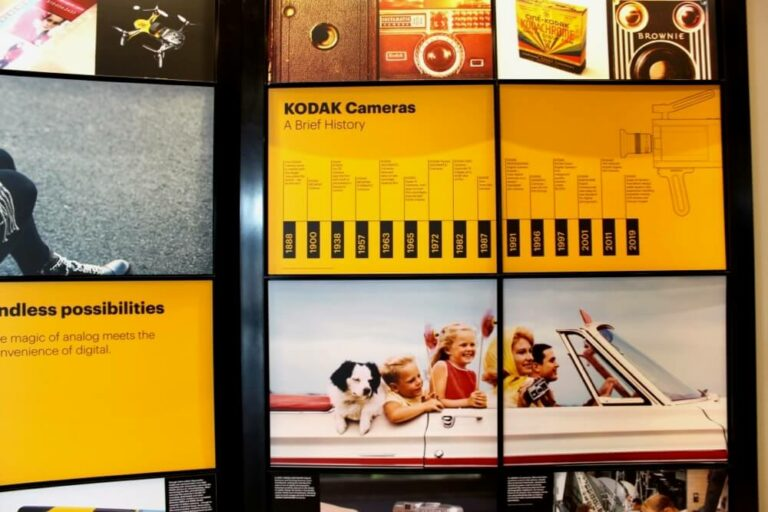 History exhibit at the Kodak Visitor Center