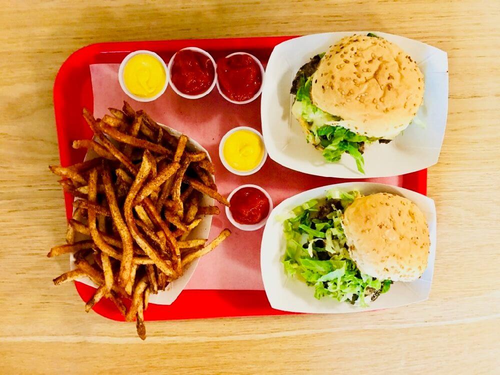 Burgers and fries at Swillburger
