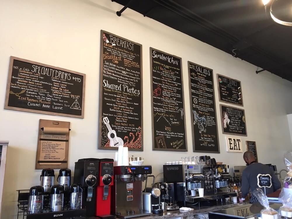 Menu boards and coffee pots