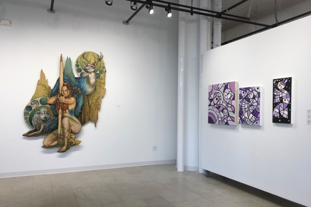 Exhibition inside the RIT City Art Space