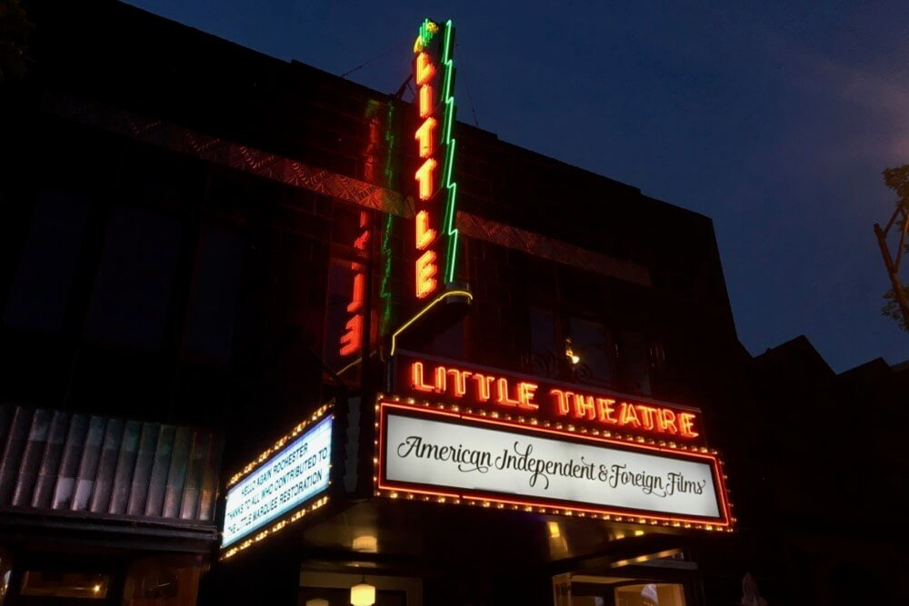 The Marquee outside The Little Theatre