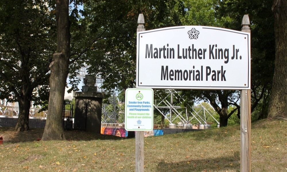 Sign at Martin Luther King Jr. Park